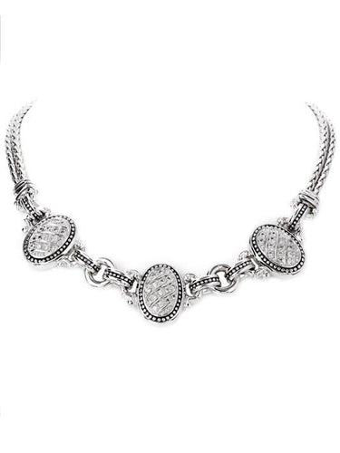 Sparkling Seas Pavé 3 Station Necklace