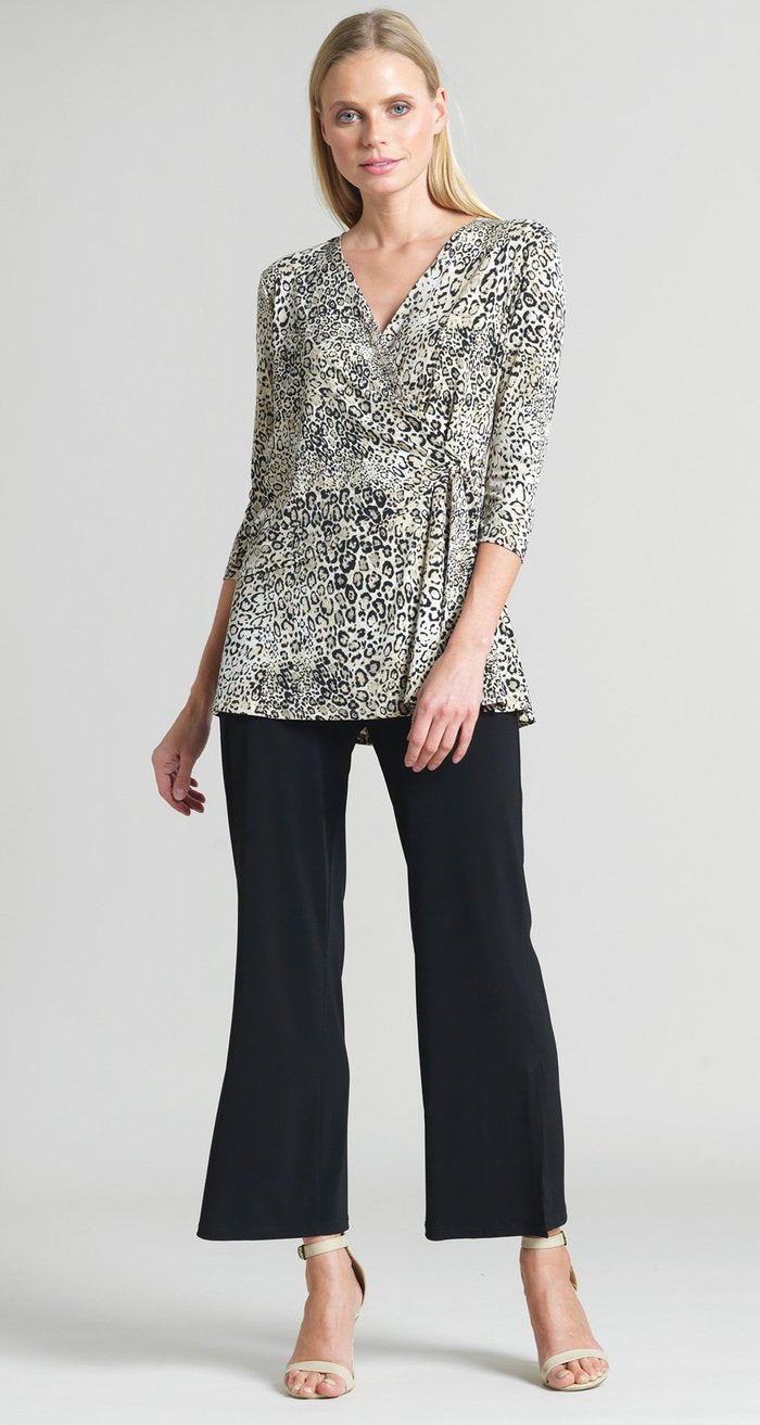 Cheetah Print Side Tie Wrap Tunic