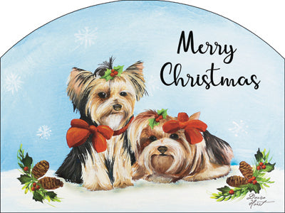 Winter Yorkies Plaque-Small