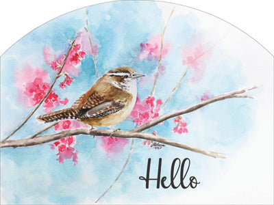 Wren Hello Plaque-Large