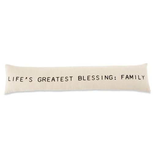 Life's Greatest Blessing Long Pillow