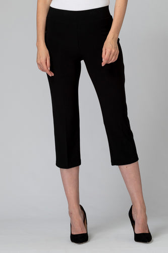 Rear Hem Slit Flared Cropped Capri
