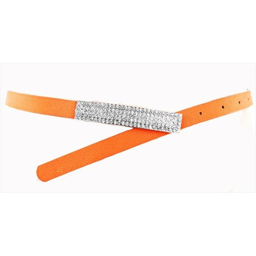 Orange Belt With Rhinestones