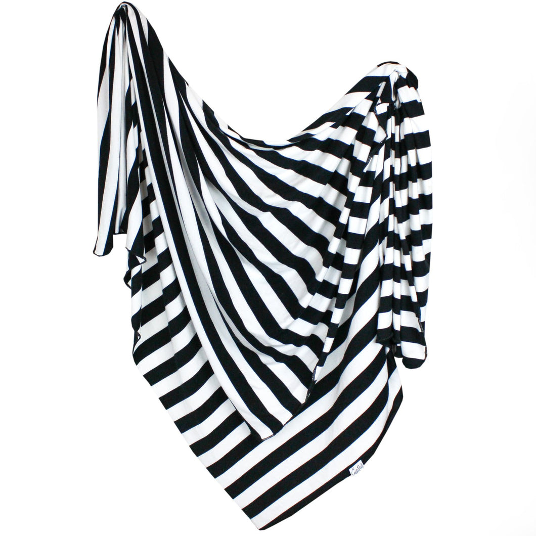 Knit Swaddle Blanket - Black & White