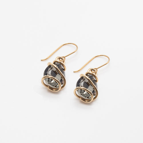 Wrapped Teardrop Earrings
