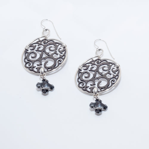 Celtic Earrings Black