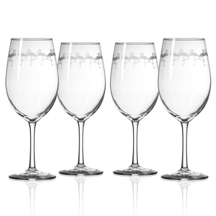 Flock Of Flamingo All Purpose Wine Glass Set