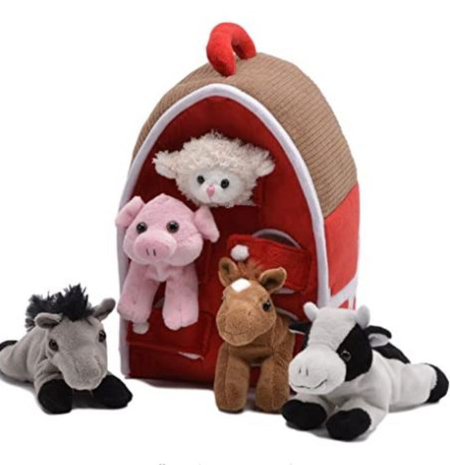 Horse House With Farm Animals
