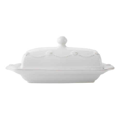 Berry & Thread Butter Dish- Whitewash