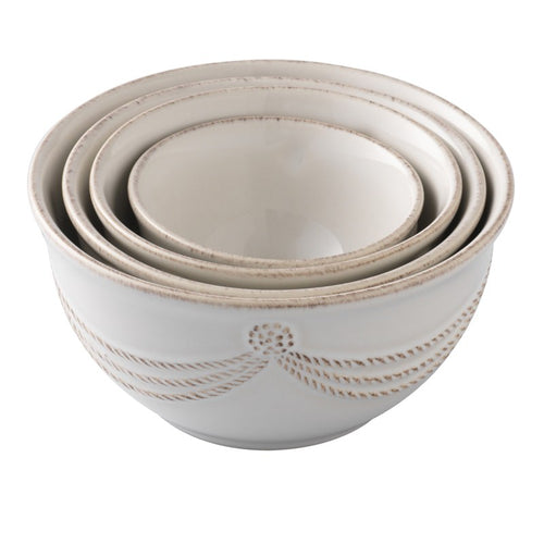 Berry & Thread Nesting Prep Bowl Set/4- Whitewash