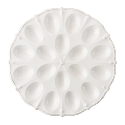 Berry & Thread Deviled Egg Platter- Whitewash
