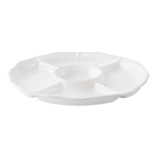 Berry & Thread Crudite Platter- Whitewash