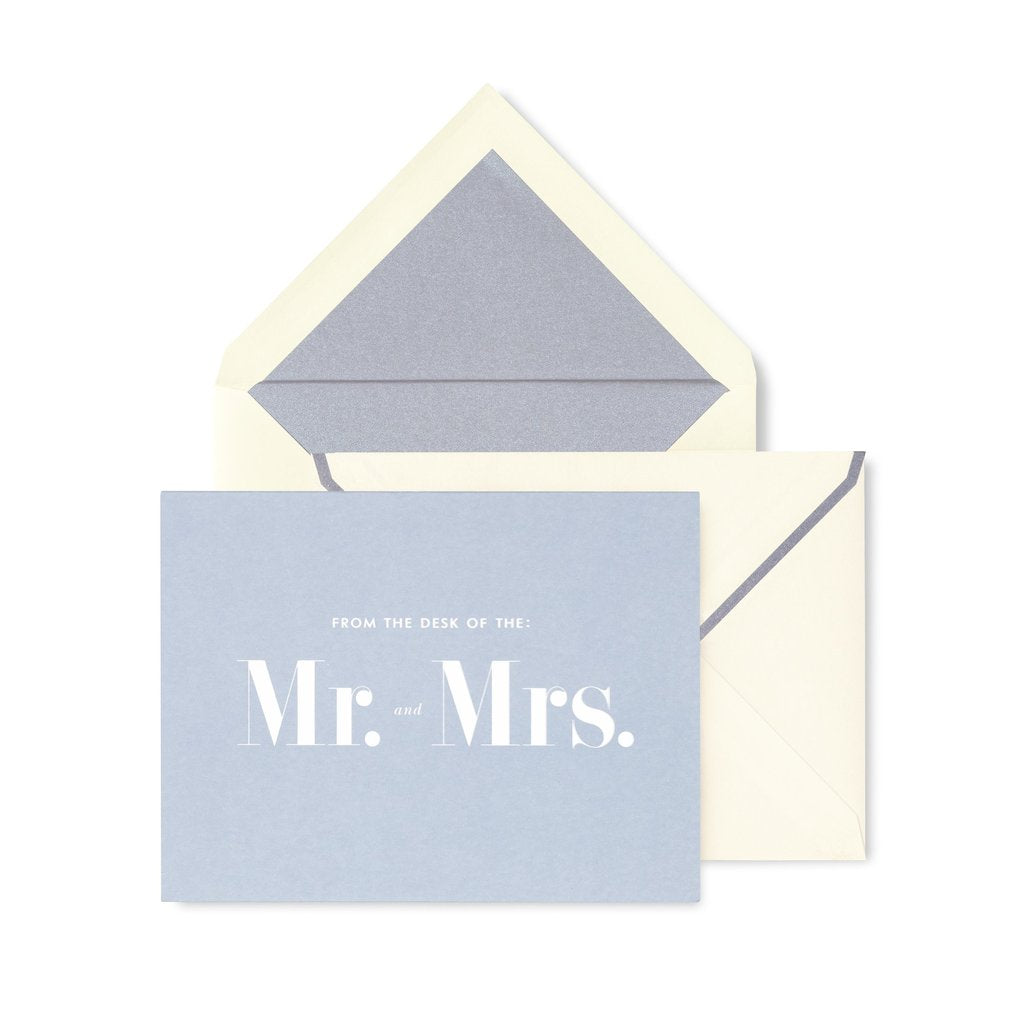Mr & Mrs Thank You Card Set