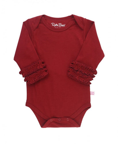 Cranberry Ruffled Long Sleeve