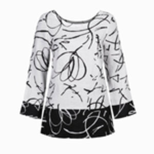 Black & White Abstract Blouse