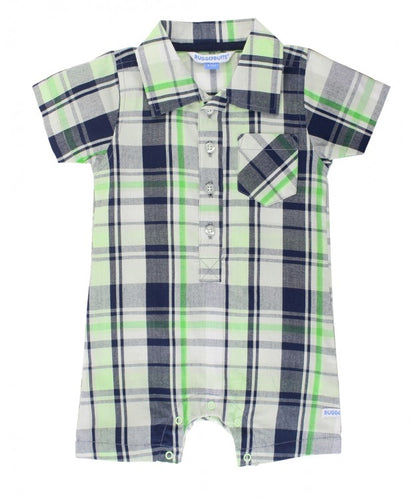 Reid Plaid Romper