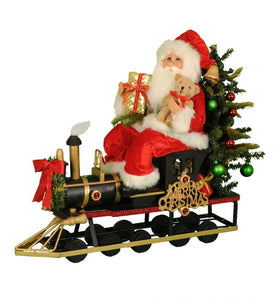 Lt. Merry Christmas Train Santa