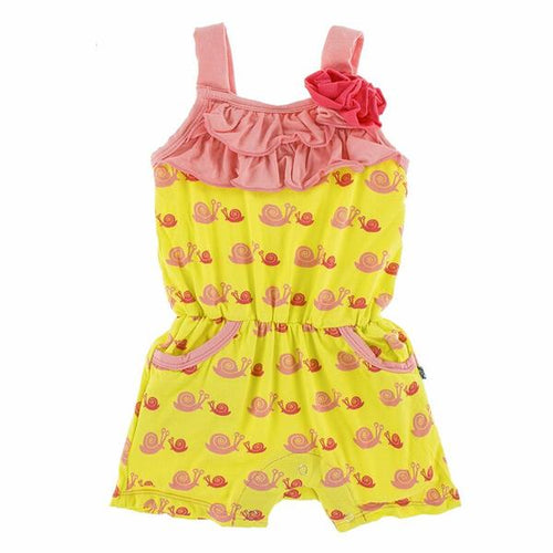 Flower Romper - Banana Snails