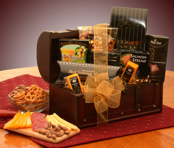 The Gourmet Connoisseur Gift Chest - I'm a Gift-Basket Case!