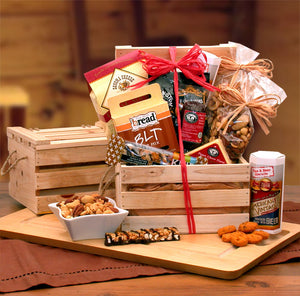 Premium Nuts & Snacks Crate - I'm a Gift-Basket Case!