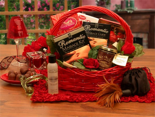 Romantic Massage Romance  Gift Basket - I'm a Gift-Basket Case!