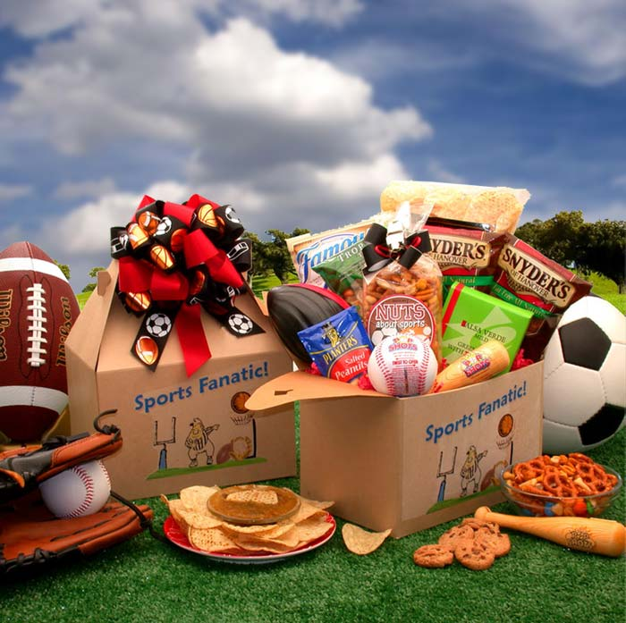 The Sports Fanatic Care Package - I'm a Gift-Basket Case!