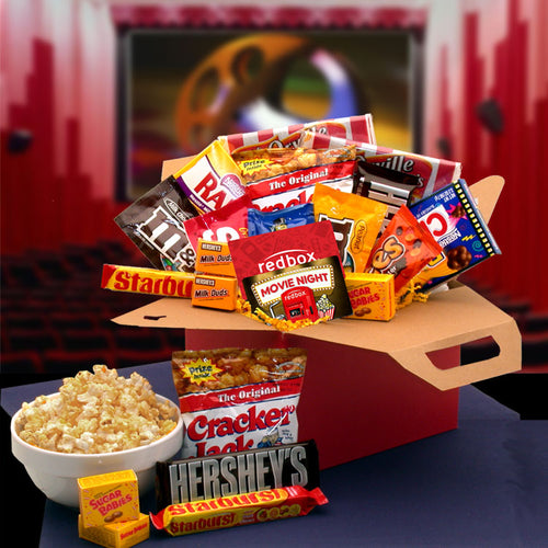 Blockbuster Night Movie Care Package with 10.00 Redbox Gift Card - I'm a Gift-Basket Case!