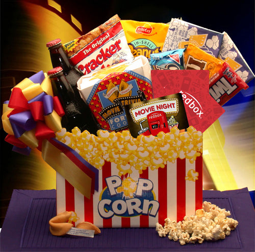 Movie Night Mania Gift Box - with 10.00 Redbox Gift Card - I'm a Gift-Basket Case!