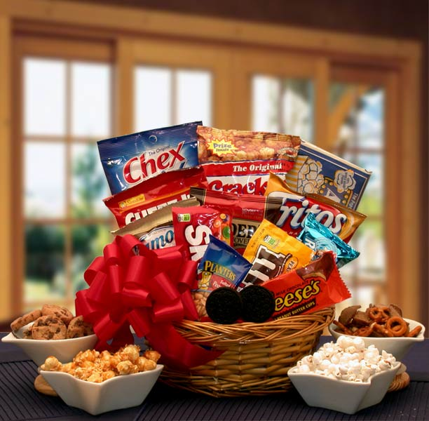 Snack Lovers Sampler Gift Basket - I'm a Gift-Basket Case!
