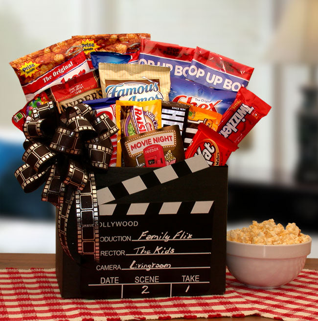 Family Flix Movie Night Gift Box - I'm a Gift-Basket Case!