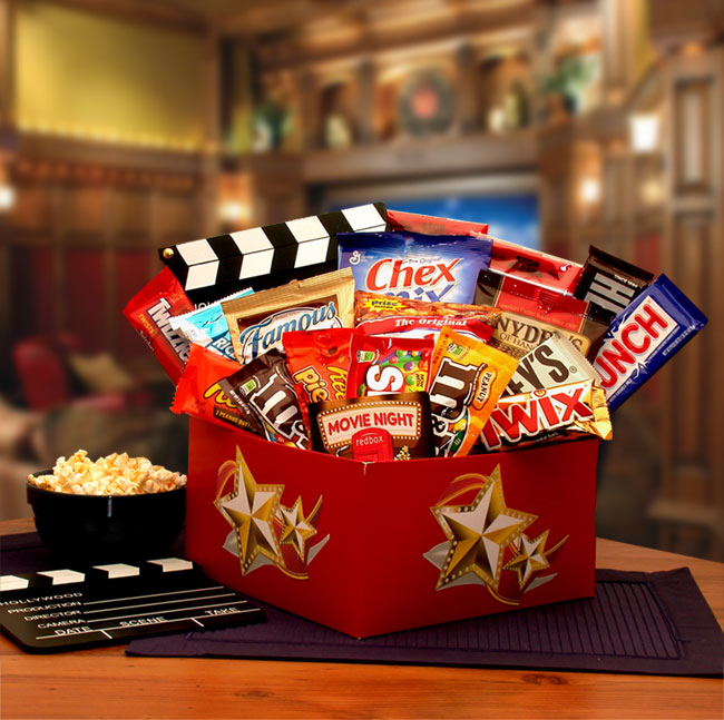 It's A Red Box Night Gift Box w- Red Box Gift Card - I'm a Gift-Basket Case!