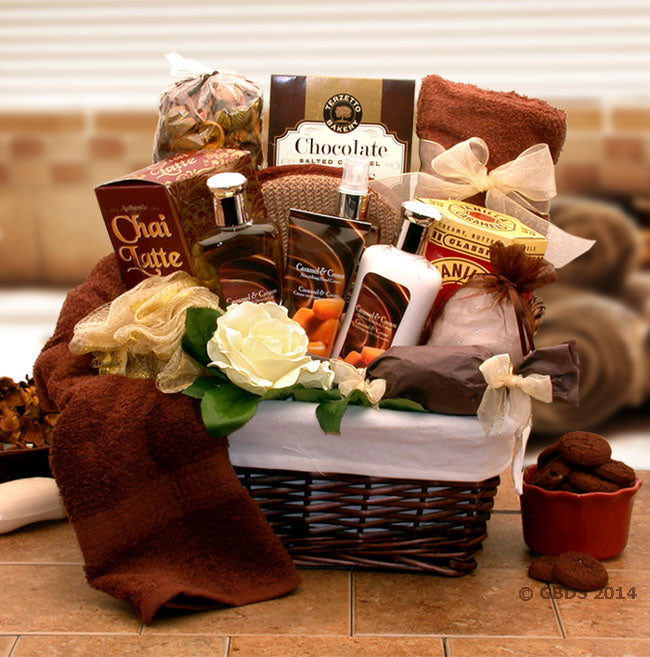 Caramel Indulgence Spa Relaxation Hamper - I'm a Gift-Basket Case!