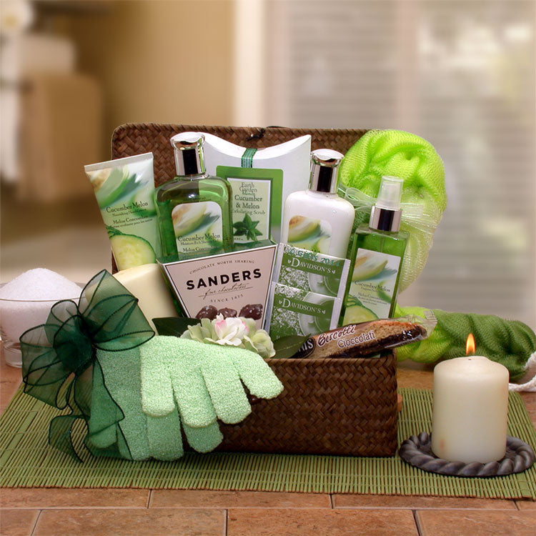 Serenity Spa Cucumber & Melon Gift Chest - I'm a Gift-Basket Case!