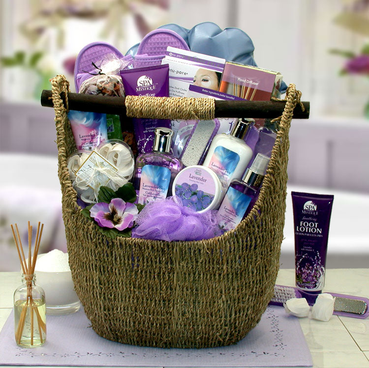 Lavender Sky Ultimate Bath & Body Tote - I'm a Gift-Basket Case!