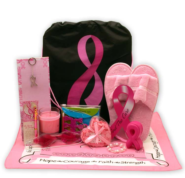 Show You Care-Be Aware Breast Cancer Gift tote - I'm a Gift-Basket Case!