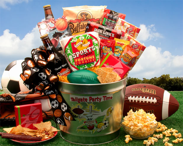 Tailgate Party Time Gift Pail - I'm a Gift-Basket Case!