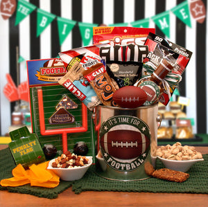It's Football Time Gift Pail - I'm a Gift-Basket Case!