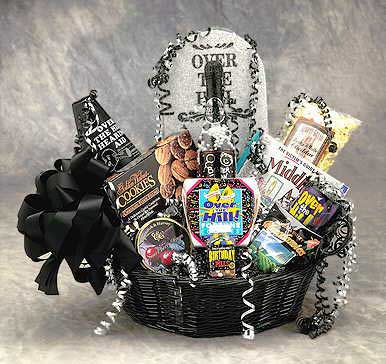 Over The Hill Birthday Basket (Large) - I'm a Gift-Basket Case!