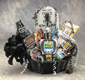 Over The Hill Birthday Basket (Medium) - I'm a Gift-Basket Case!