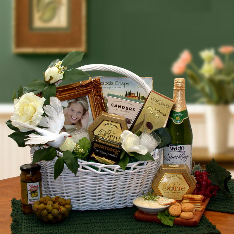 Wedding Wishes Gift Basket - Medium - I'm a Gift-Basket Case!