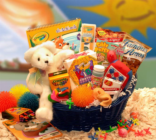 Kids Stop Activity Basket - I'm a Gift-Basket Case!
