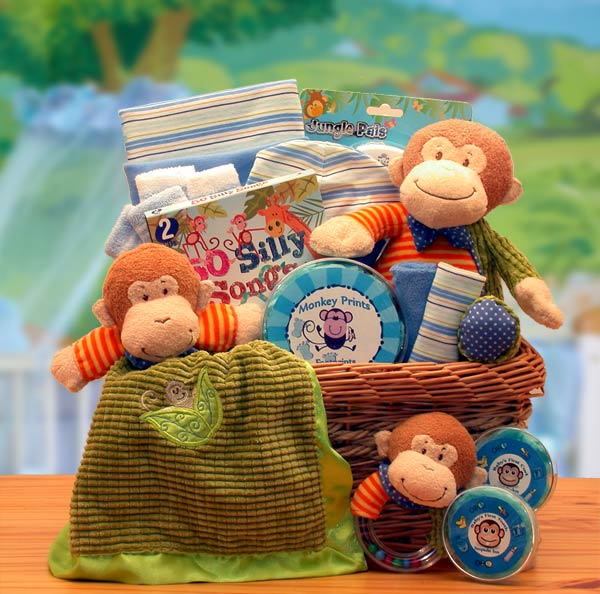 A New Little Monkey Baby Gift Basket - I'm a Gift-Basket Case!