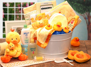Bath Time Baby Gift tub - Large - Yellow - I'm a Gift-Basket Case!