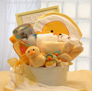 Bath Time Baby Gift Tub - Medium - Yellow - I'm a Gift-Basket Case!