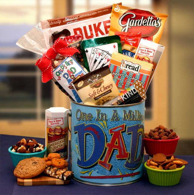 You're One In A Million Dad Premium Snacks & Nuts Gift Pail