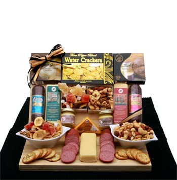 Savory Selections Meat & Cheese Gourmet Gift Board