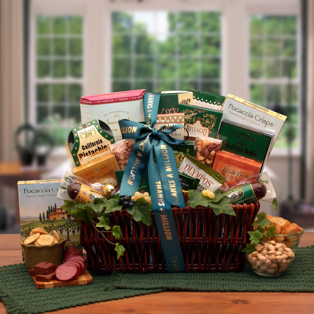 Many Thanks! Gourmet Gift Basket