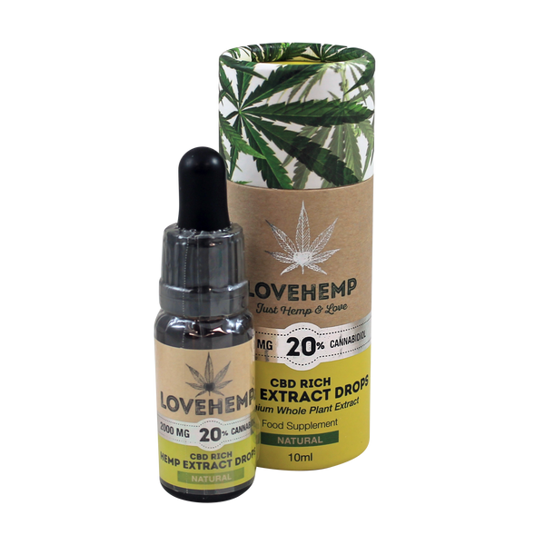Love Hemp CBD Rich Hemp Oil (2000mg 10ml)