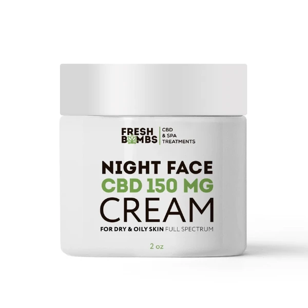 Fresh Bombs CBD Night Face Cream 150mg 2 oz
