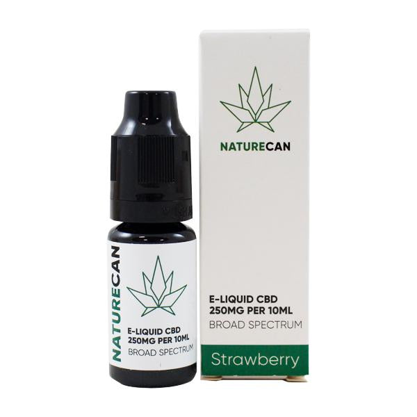 Naturecan CBD E-liquid Strawberry 10ml 250mg